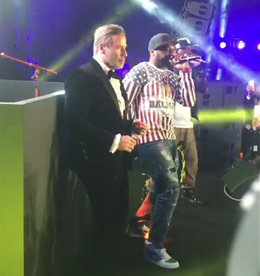 John Travolta Dances w/ 50 Cent At Cannes Party [VIDEO]