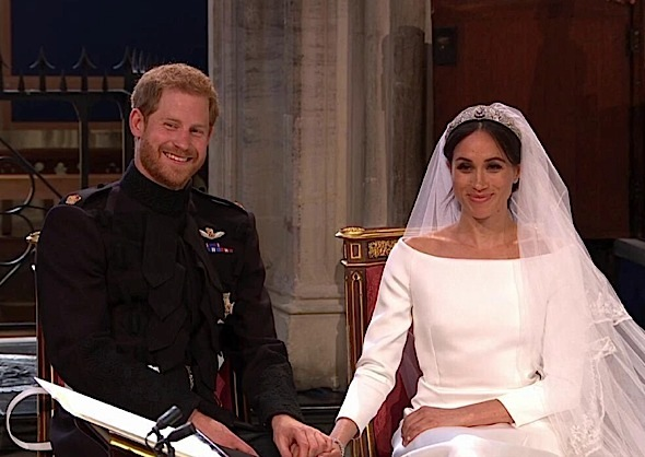 Prince Harry & Meghan Markle Are Married! Oprah, Idris Elba, Elton John Attend [Photos]