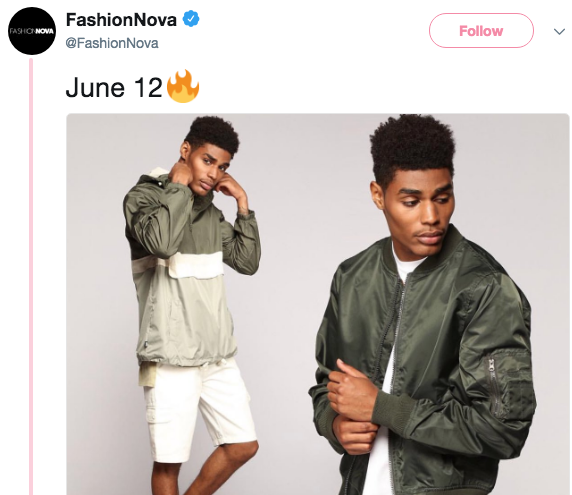 Fashion Nova Announces Menswear Line