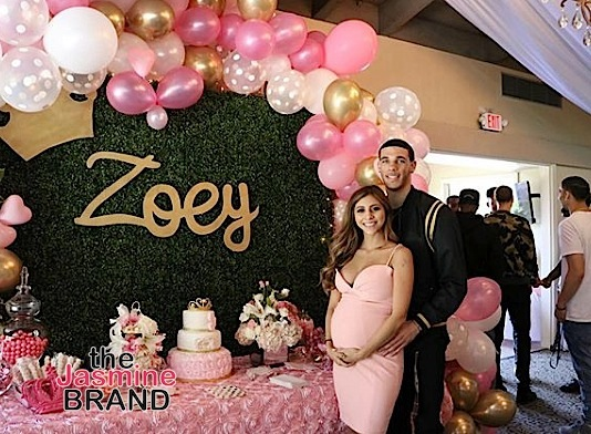 Lonzo Ball & Girlfriend Denise Garcia's Baby Shower! [Photos]