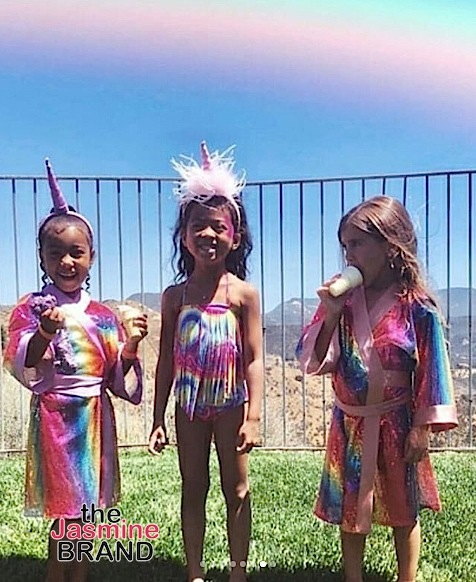 North West & Penelope Disick's Unicorn Theme B-Day Party! [Photos]