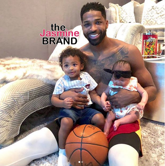 Tristan Thompson Shares 1st Photo w/ His Two Kids