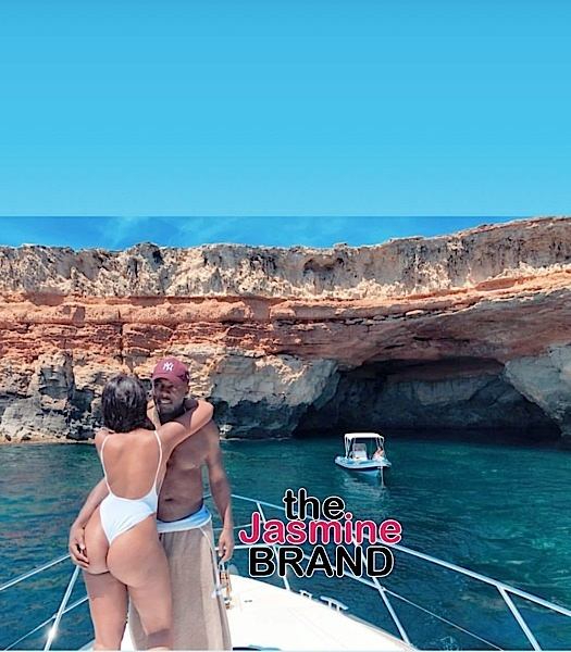 Idris Elba Grabs Fiancée's G-String Booty On Vacay