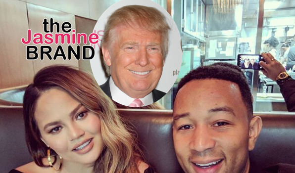 "Trump Refers To Chrissy Teigen As ""Filthy Foul Mouthed Wife"", Chrissy Calls Him President P*ss* A** B*tch"