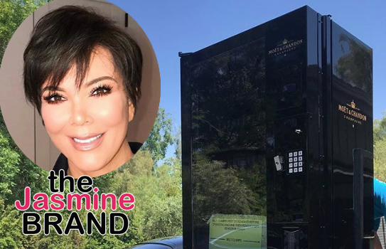 Kris Jenner Gets Champagne Vending Machine Delivered To Her House!