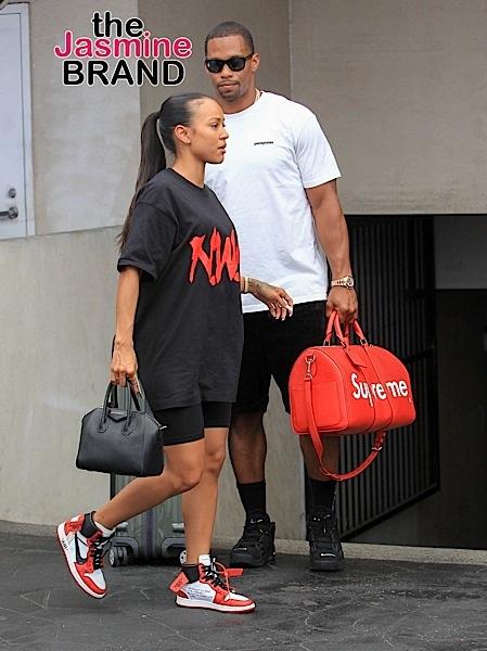 Nelly & Shantel Jackson Party in Las Vegas, Magic Johnson In LA + Karrueche Tran & Victor Cruz Spotted in Beverly Hills [Celebrity Stalking]