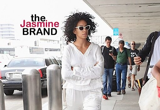Solange Knowles Struts Through LAX in All-White [Celebrity Stalking]