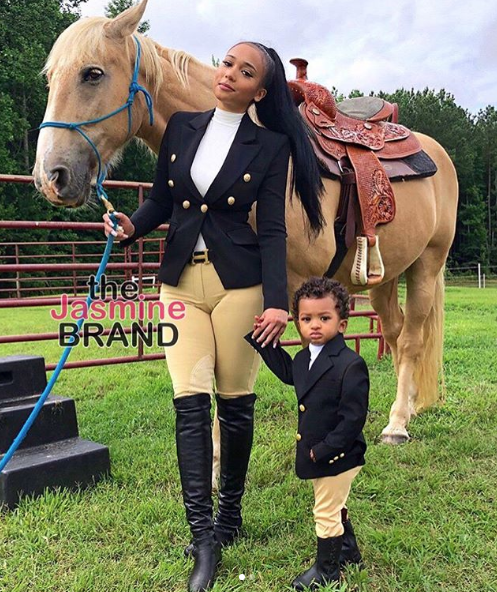 Tristan Thompson's Baby Mama Jordan Craig Takes Son Horseback Riding