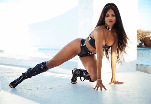 Ciara Flaunts Skimpy Leather Lingerie [Photos]