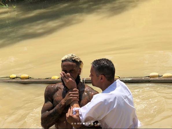 Odell Beckham Jr. Gets Baptized, Amidst Allegations Of Offering Woman 1k For Sex
