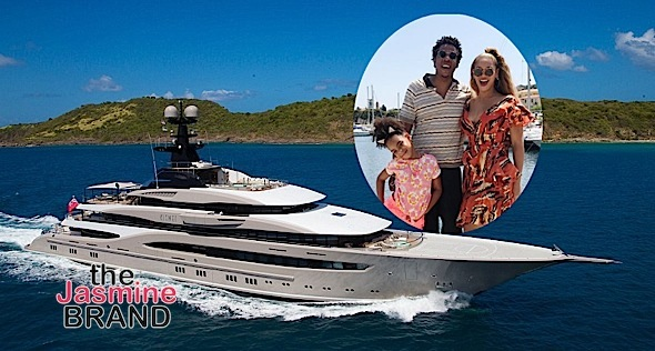 Beyonce & Jay-Z Vacation In $180 Million Yacht With Swimming Pool & Home Theater
