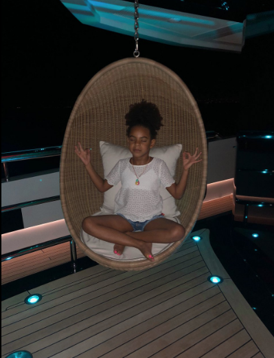 Blue Ivy Shows Off Her Meditation Skills w/ Mom Beyonce [Photos]