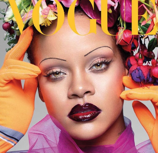 Rihanna Debuts Paper Thin Eyebrows For British Vogue