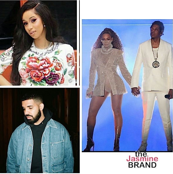 Cardi B, Beyonce, Jay-Z & Drake Lead MTV VMA Nominations