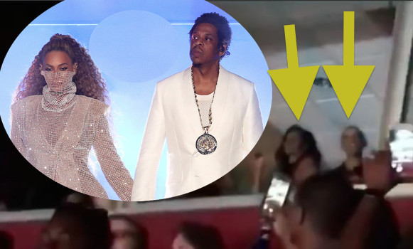 """Barack & Michelle Obama Spotted At Jay Z & Beyonce's """"On The Run II"""" Tour"""
