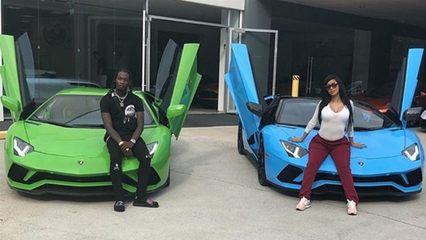 Offset Gives Cardi B An Early B-Day Gift: You're The 1st In America To Have A Lamborgini Truck!