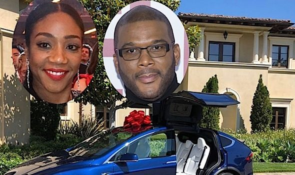 Tyler Perry Surprises Tiffany Haddish With A New Car!