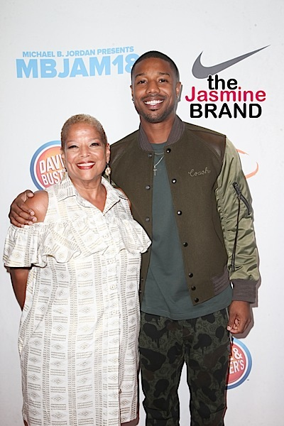 Michael B. Jordan Hits Lupus Event w/ Mother [Photos]