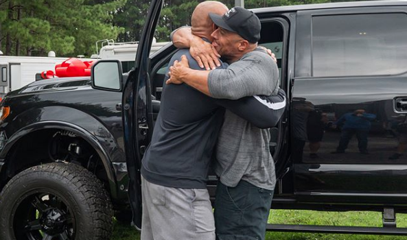 The Rock Buys Stunt Double A Brand New Car! [VIDEO]
