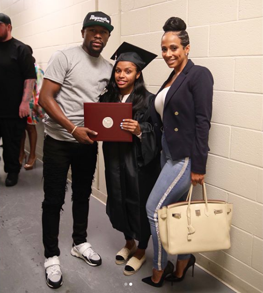 floyd mayweathers daughter finished high school at 15 returned 3 years later to walk across stage