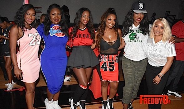 Kandi Burruss Throws 'Jerseys & Jordans' B-Day Bash For Hubby: Kenya Moore, Eva Marcille, Porsha Williams, Tiny Harris Attend