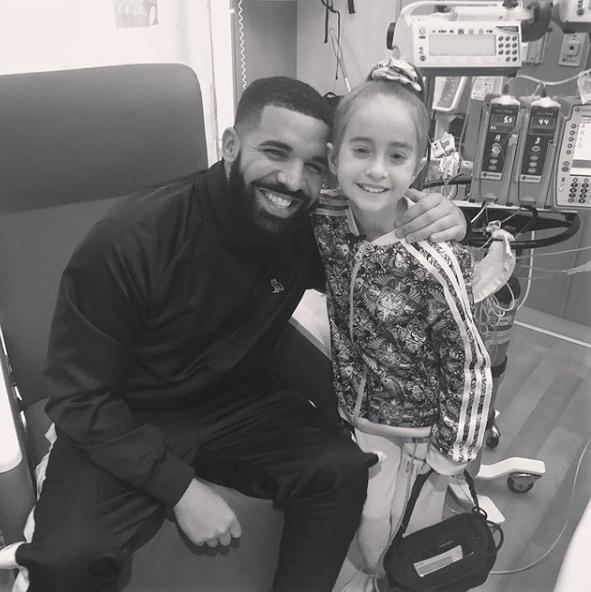 """Drake Visits Sick Fan In Hospital After Her """"KiKi Challenge"""" Goes Viral"""