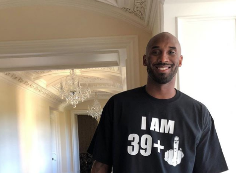 Kobe Bryant Celebrates B-Day Showing Off Guns: 40 My A**!