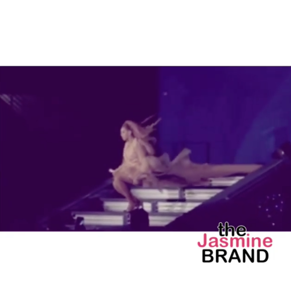 Beyonce Almost Falls On Stage! [VIDEO]