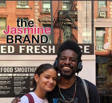 Andre 3000 All Smiles When Meeting Fan w/ His Face On Her Shirt