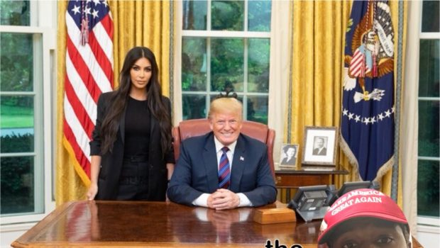 Trump Praises Kim Kardashian & Kanye West