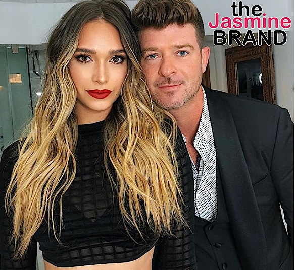Robin Thicke's Girlfriend Defends Being Pregnant w/ Singer's 2nd Child - Women Don't Need To Be Married Before Having Kids!