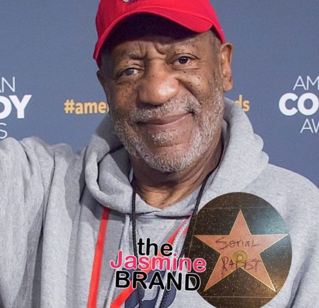 """Bill Cosby – Vandals Write """"Serial Rapist"""" On His Hollywood Star"""
