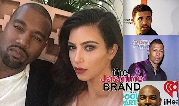 Kanye Tells Nick Cannon, Tyson Beckford & Drake To Stop Disrespecting His Wife Kim Kardashian