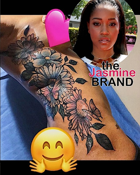 Keke Palmer Gets Half Naked To Show Off New Tattoo