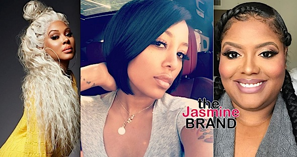K. Michelle Called Out By Lyrica Anderson Over 'Cement Booty' + Paris Phillips Claims Singer Was Dropped By Label