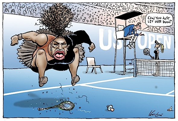 Serena Williams Cartoon Labeled Racist & Sexist