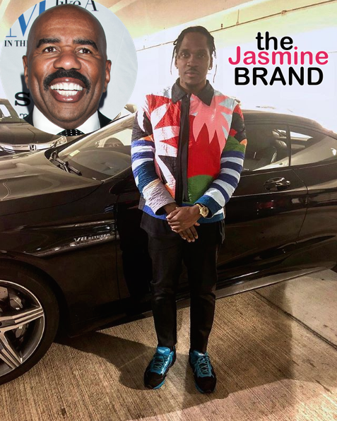 Steve Harvey Calls Pusha T A 'Broke A** Boy' [VIDEO]