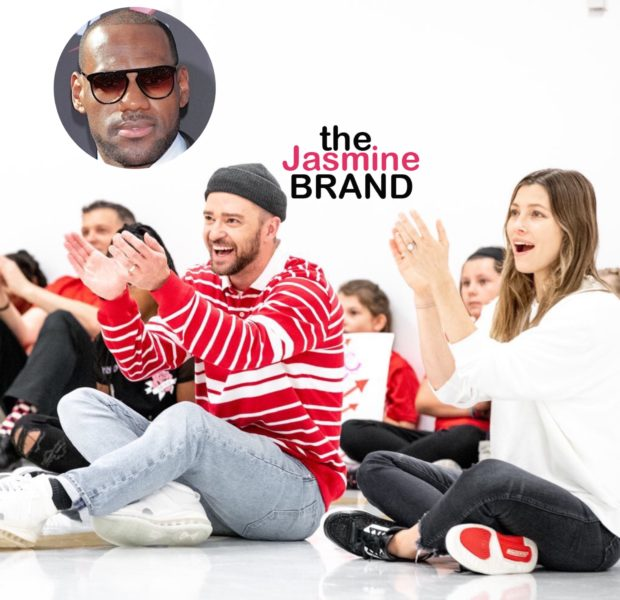 Justin Timberlake & Jessica Biel Surprise Students At LeBron James I Promise School