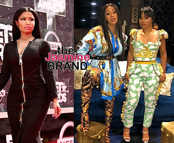 Nicki Minaj Responds To Fan Suggesting She Should Sue Cardi B & Sister For Defamation Of Character