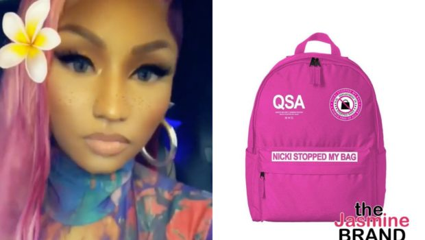 "Nicki Minaj Taunts Female Rappers w/ ""Nicki Stopped My Bag"" Merch"