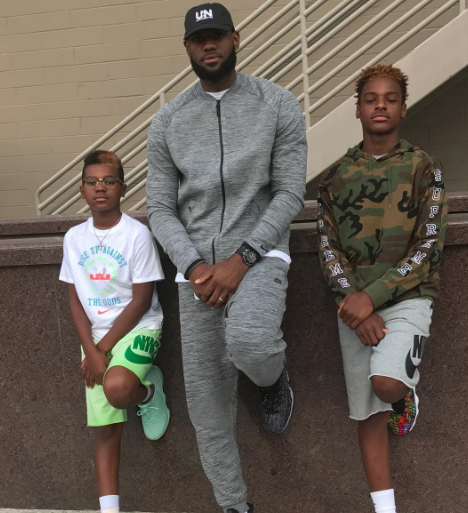 LeBron James' 11 & 14-Year-Old Sons Drink Wine