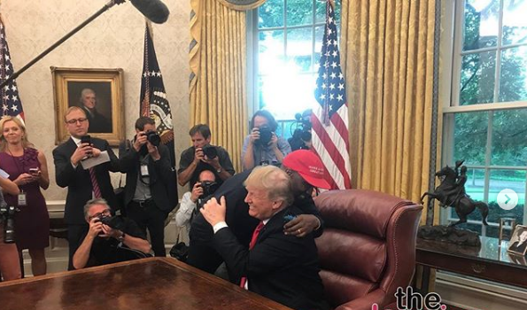 Kanye Uses Word 'Motherf**ker' During Visit w/ Trump, Gives President Big Hug