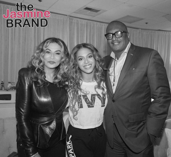 Mathew Knowles Talks Surprise Reunion w/ Beyonce & Ex Wife Tina Lawson Backstage