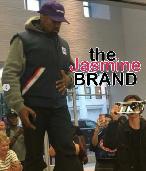 Kanye Jumps On Apple Store Table, Delivers Impromptu Speech [VIDEO]