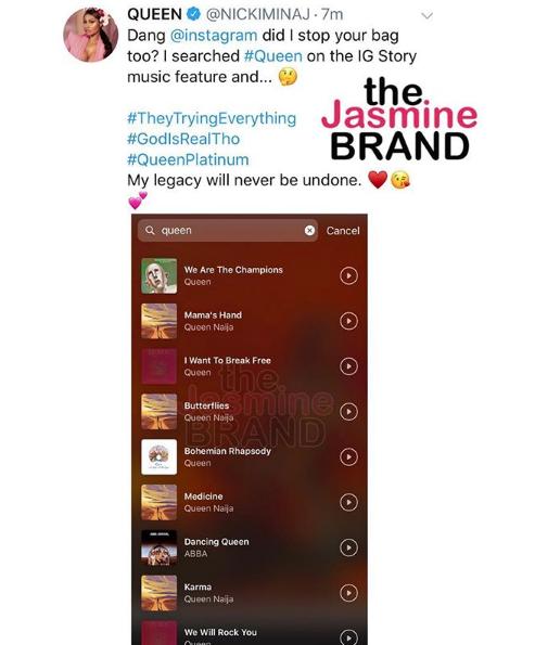 Nicki Minaj Accuses Instagram Of Blocking Her New Album