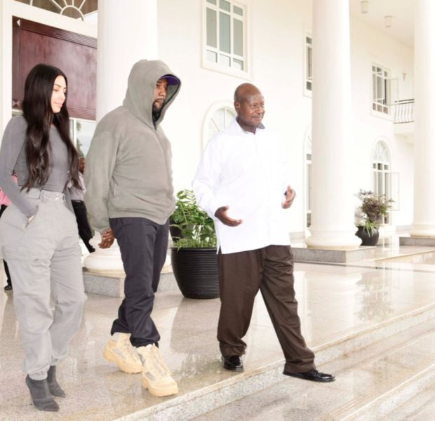 "Kanye & Kim Kardashian Go To Uganda, Ye Tells President He Wants To Make Uganda ""Like Jurassic Park"""