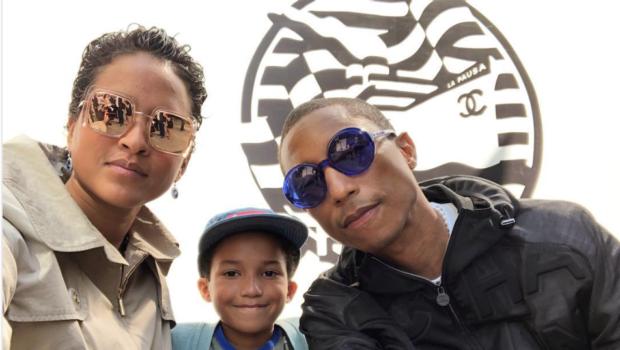 Pharrell Takes Son Rocket To Chanel Cruise Fashion Show