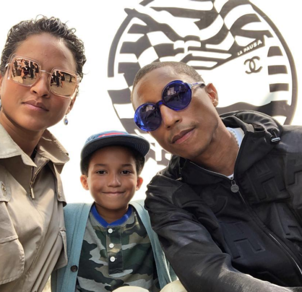 Pharrell Takes Son Rocket To Chanel Cruise Fashion Show