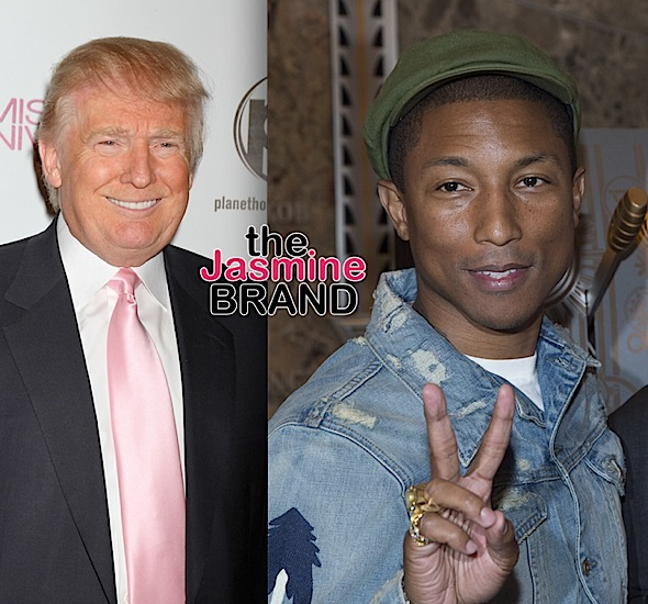 "Pharrell Threatens To Sue Trump For Playing ""Happy"" At Rally"