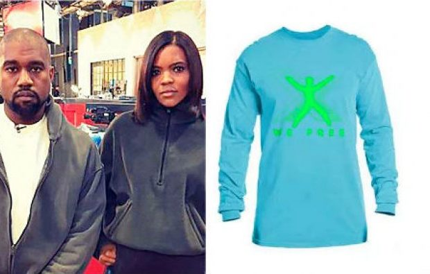 """Kanye Designs Shirts For Candace Owens' """"Blexit"""" Campaign, Encourages Black People To Exit The Democratic Party"""